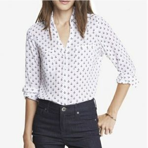 """Express """"The Essential Shirt"""" Anchor Pattern"""